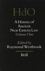 Cover A History of Ancient Near Eastern Law (2 vols)