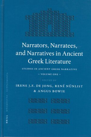 Cover Narrators, Narratees, and Narratives in Ancient Greek Literature
