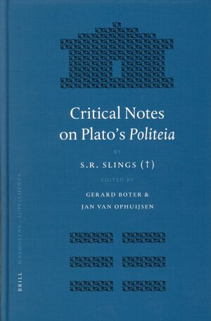 Cover Critical Notes on Plato's <i>Politeia</i>