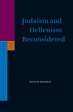 Cover Judaism and Hellenism Reconsidered