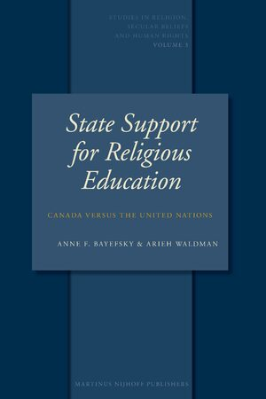 Cover State Support for Religious Education