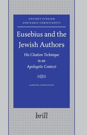 Cover Eusebius and the Jewish Authors