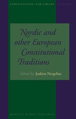 Cover Nordic and Other European Constitutional Traditions