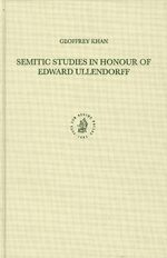 Cover Semitic Studies in Honour of Edward Ullendorff