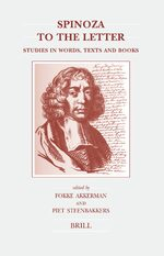 Cover Spinoza to the Letter