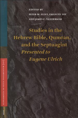 Cover Studies in the Hebrew Bible, Qumran, and the Septuagint