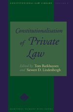 Cover Constitutionalisation of Private Law