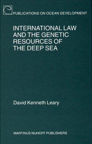 Cover International Law and the Genetic Resources of the Deep Sea