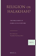 Cover Religion or Halakha (paperback)