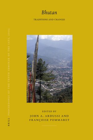 Cover Proceedings of the Tenth Seminar of the IATS, 2003. Volume 5: Bhutan