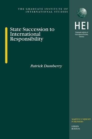 Cover State Succession to International Responsibility