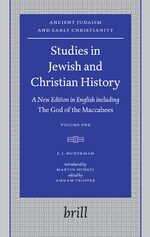 Cover Studies in Jewish and Christian History (2 vols)