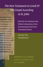 The New Testament in Greek IV — The Gospel According to St. John. Edited by the American and British Committees of the International Greek New Testament Project