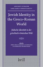 Cover Jewish Identity in the Greco-Roman World