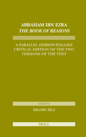 Cover Abraham Ibn Ezra <i>The Book of Reasons</i>