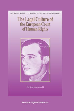 Cover The Legal Culture of the European Court of Human Rights