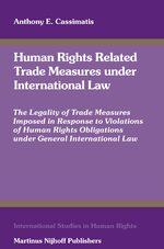 Cover Human Rights Related Trade Measures under International Law