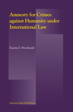 Cover Amnesty for Crimes against Humanity under International Law