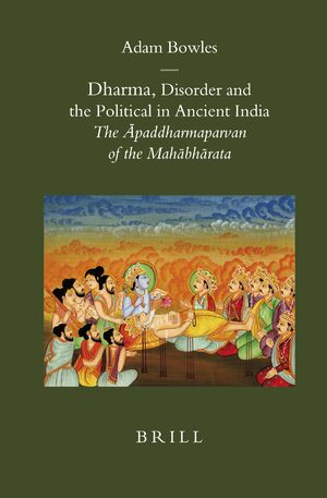 Cover Dharma, Disorder and the Political in Ancient India