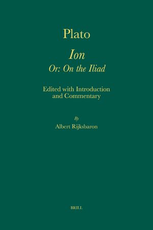 Cover Plato. <i>Ion Or: On the Iliad</i>
