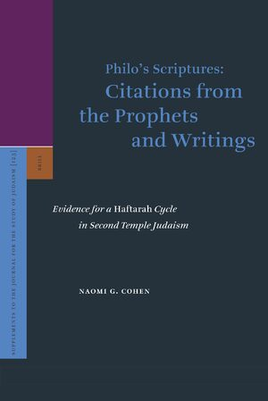 Cover Philo's Scriptures: Citations from the Prophets and Writings
