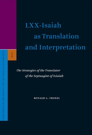 Cover LXX-Isaiah as Translation and Interpretation