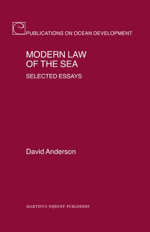 Cover Modern Law of the Sea