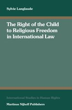 Cover The Right of the Child to Religious Freedom in International Law