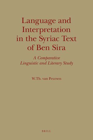 Cover Language and Interpretation in the Syriac Text of Ben Sira