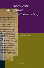 Cover Scribal Habits in Early Greek New Testament Papyri