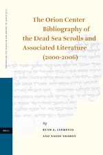 Cover The Orion Center Bibliography of the Dead Sea Scrolls and Associated Literature (2000-2006)