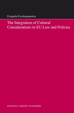 Cover The Integration of Cultural Considerations in EU Law and Policies