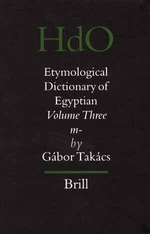 Cover Etymological Dictionary of Egyptian