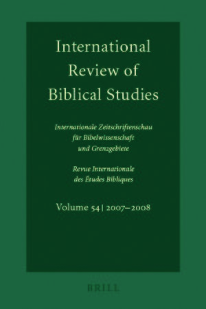 Cover International Review of Biblical Studies, Volume 54 (2007-2008)