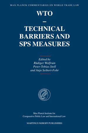 Cover WTO - Technical Barriers and SPS Measures