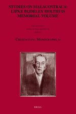 Studies on Malacostraca: Lipke Bijdeley Holthuis Memorial Volume