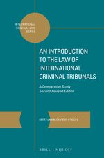 Cover An Introduction to the Law of International Criminal Tribunals