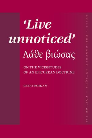 Cover <i>Live unnoticed</i>