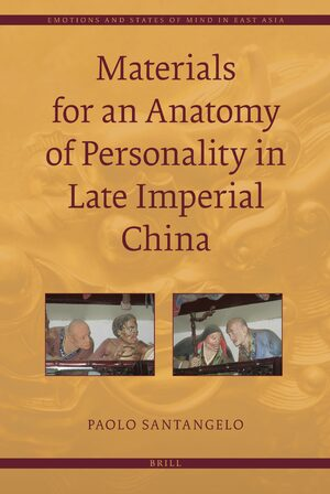 Cover Materials for an Anatomy of Personality in Late Imperial China
