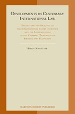 Cover Developments in Customary International Law