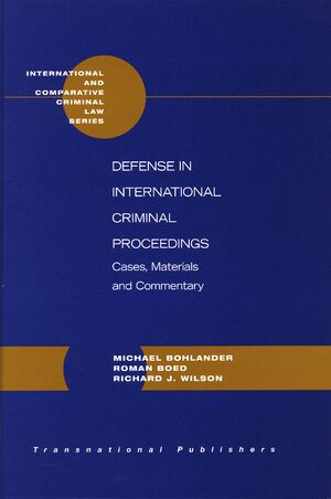 Cover Defense in International Criminal Proceedings