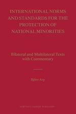 Cover International Norms and Standards for the Protection of National Minorities