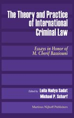 Cover The Theory and Practice of International Criminal Law