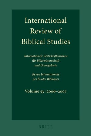 International Review of Biblical Studies, Volume 53 (2006-2007)