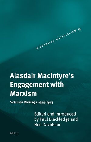 Cover Alasdair MacIntyre's Engagement with Marxism