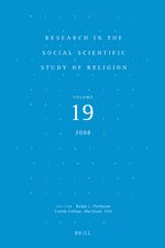 Cover Research in the Social Scientific Study of Religion, Volume 19