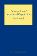 Cover Common Law of International Organizations