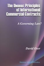 Cover The Unidroit Principles of International Commercial Contracts