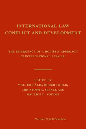 Cover International Law, Conflict and Development