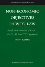 Cover Non-Economic Objectives in WTO Law